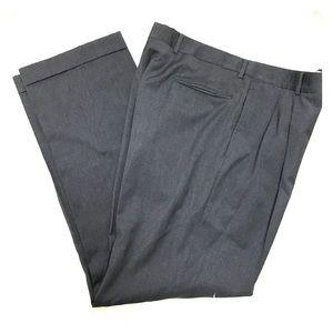 Jos. A. Bank Charcoal Men's Pleated Dress Pants